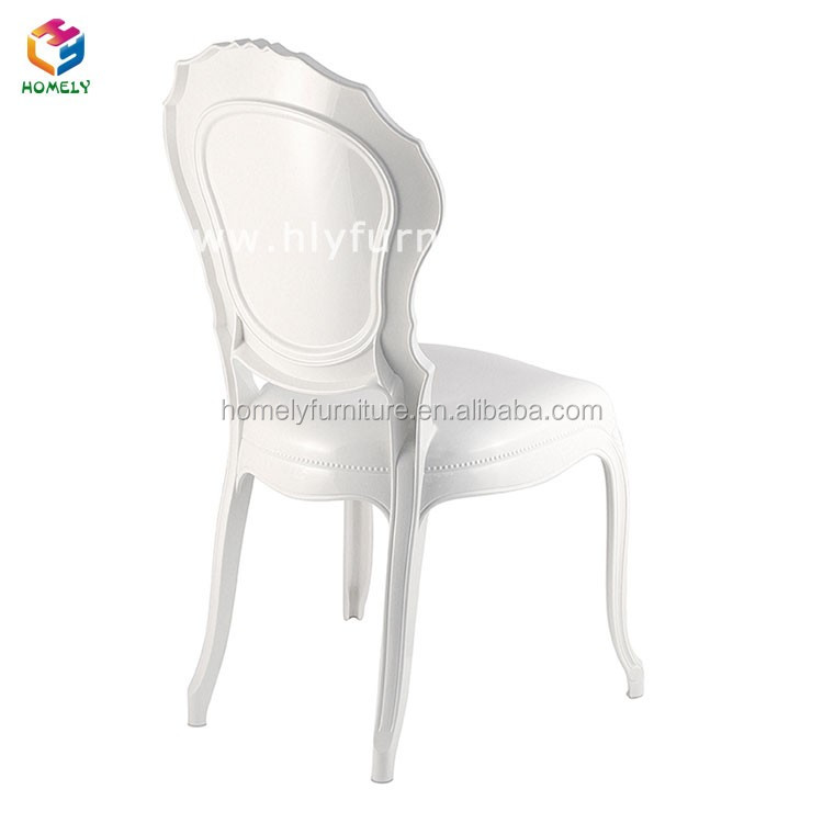 Elegant transparent stacking acrylic princess chair