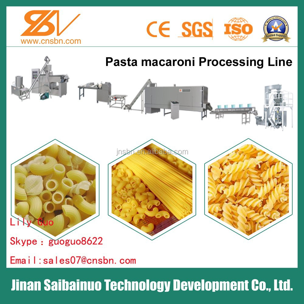Low consumption siral macaroni machine italy