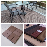 wpc DIY decking wpc flooring recycled plastic and waste wood fiber used composite decking