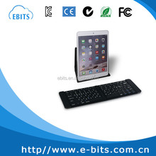 Aluminum alloy bluetooth mini folding wireless keyboard for laptop and mobile phone