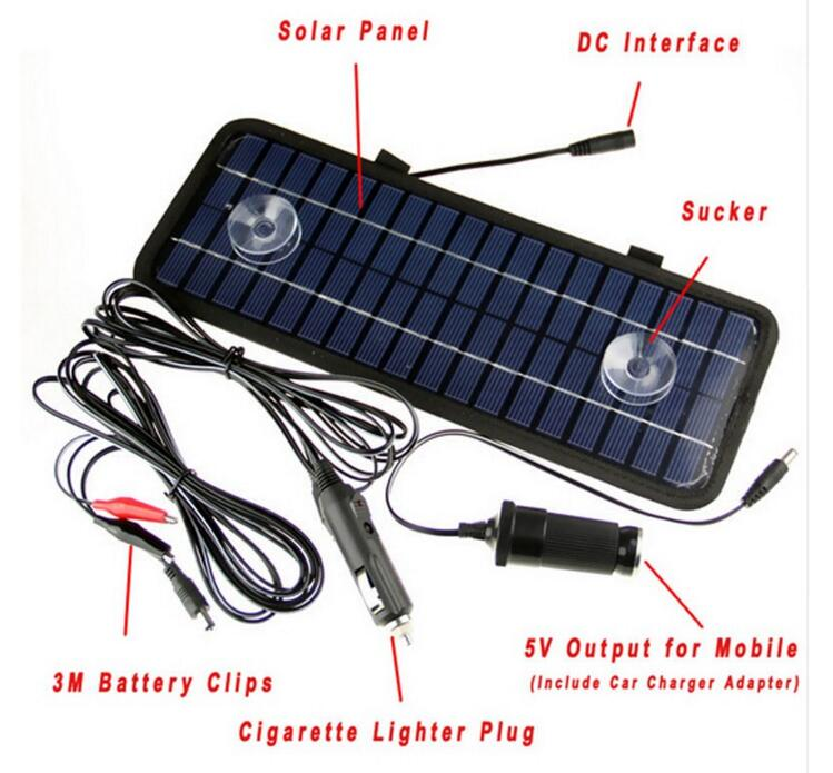 High quality 12V 4.5W Monocrystalline Solar Panel Module System Car Automobile Boat Portable Rechargeable Power Battery Charger