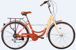 "city bike lady bike in bicycle 26"" inch new model 7speed tianjin 2017"