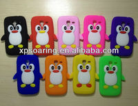 mobile phone penguin silicone case for Samsung Galaxy Ace 2 i8160