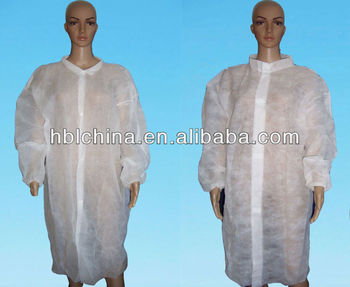 nonwoven disposable lab coat