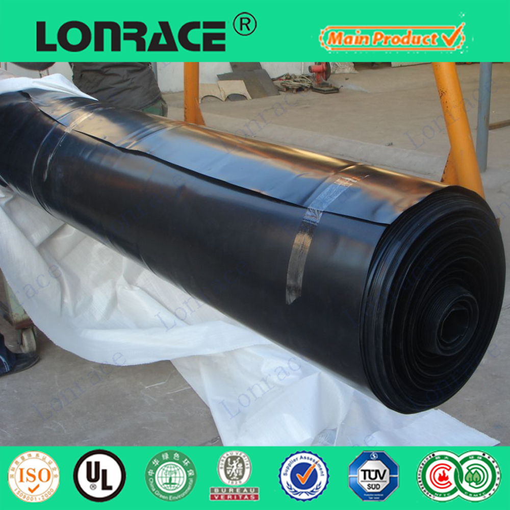 HDPE/LDPE geomembrane film for reinforced construction
