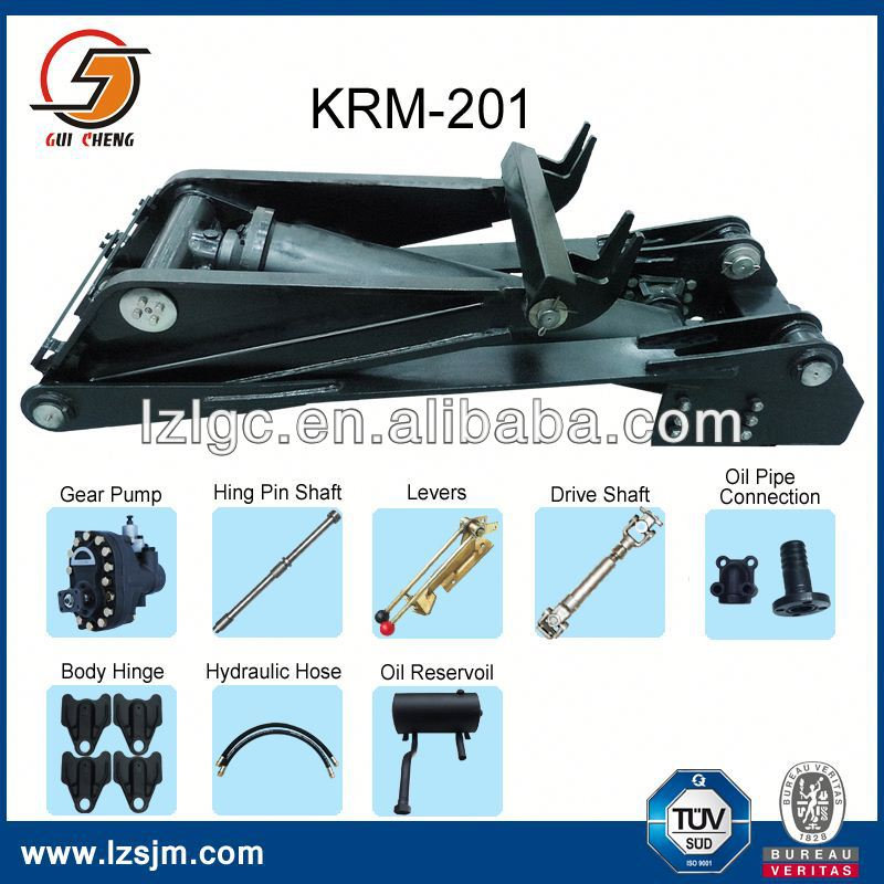dump truck welding single acting KRM92/143/160/183/201/220 hydraulic cylinder drawings