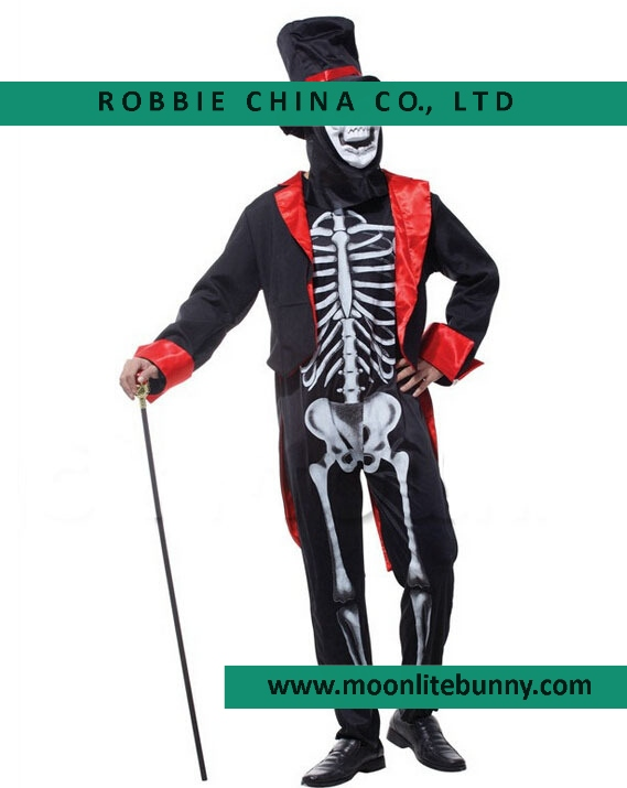 Halloween Party Christmas Festival Role-playing Suit Skeletal Image Costumes The skeleton Magician Cloth