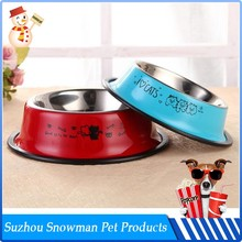 High Quality Various Color Double Stainless Steel food and water bowls for dogs