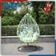Cargem new design green color indoor hanging swing egg chair