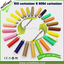 Most popular Ocitytimes 510 cbd cartomizer colored smoke e cigarette cbd vape pen