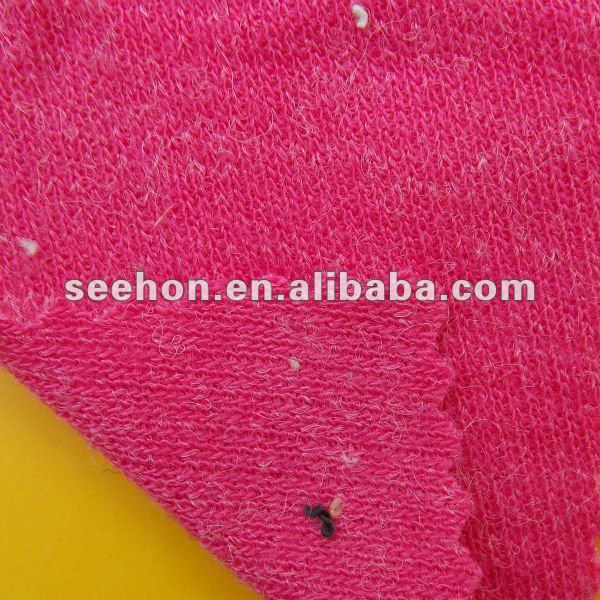 plain dyed 100% wool double knit fabric