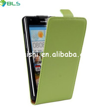 Open up and down leather flip cover case for ascend g700 huawei