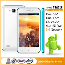 4.0 inches New Basic 3G dual sim Google Android mobile phones