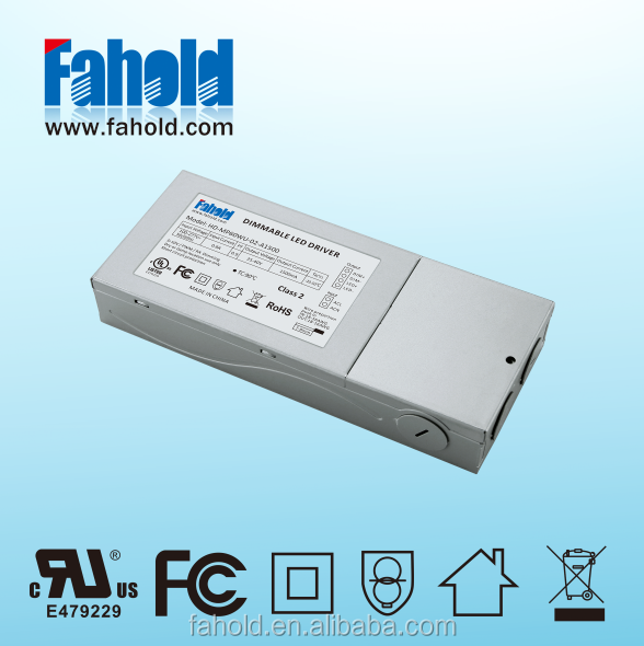 UL FCC Class P Fahold HD-MP60WU-02 Power supply Constant Current 60W 1500mA dimmable No-flicker led driver with 5years