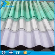 Colored corrugated hard clear plastic roofing sheet for greenhouse