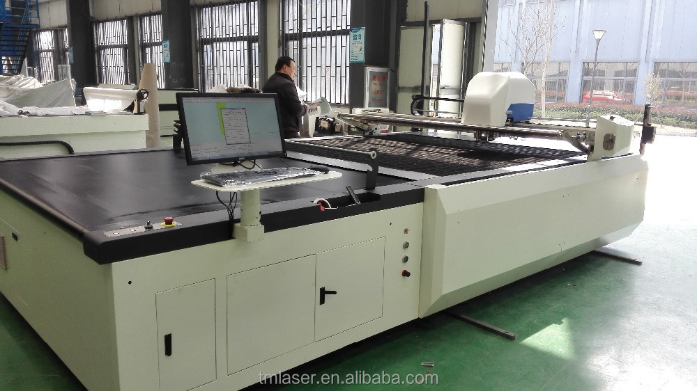 TIMING Automatic conveyor cutting table cutter for clothing, luggage, toys, home textile, car seats,