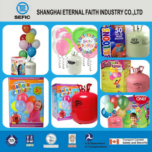 Disposable Steel Top Quality Helium Gas Cylinder Helium