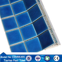 dectorative pattern broken surface the ice crack glased pool mosaic tiles