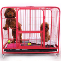 high quality heavy duty dog crates with casters for malaysia