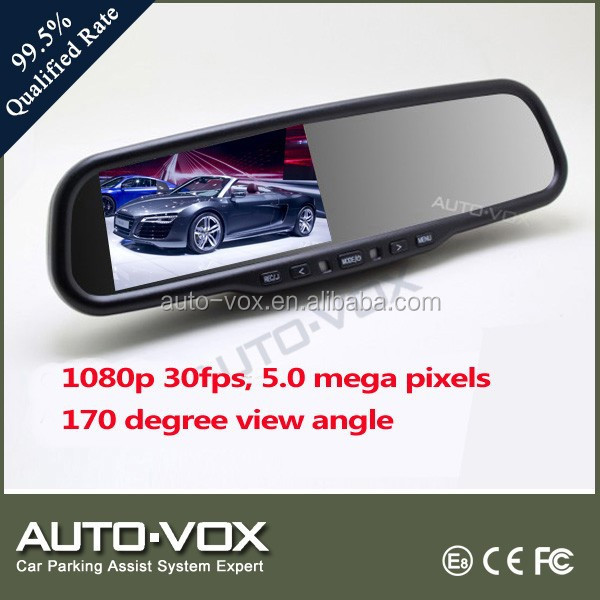 car dvr rearview mirror support 2 video inputs