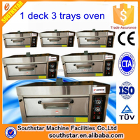 1 deck 3 tray 400*600 single electric oven price for sale