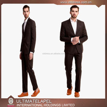 Brown Slim Fit Notch Lapel Custom Made Indian Wedding Coat Suit for Men