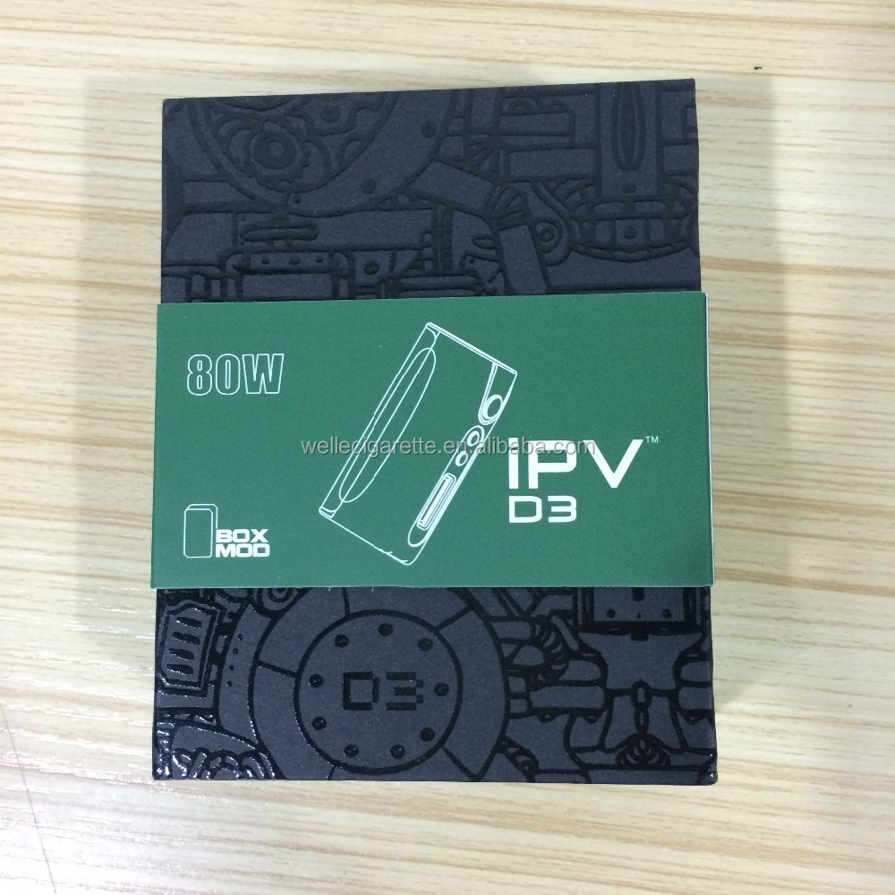 Stock Shipping 100% Original IPV D3, IPVD3, IPV D3 80W TC Mod Hot Selling Temp Control 80w Box Mod IPV D3