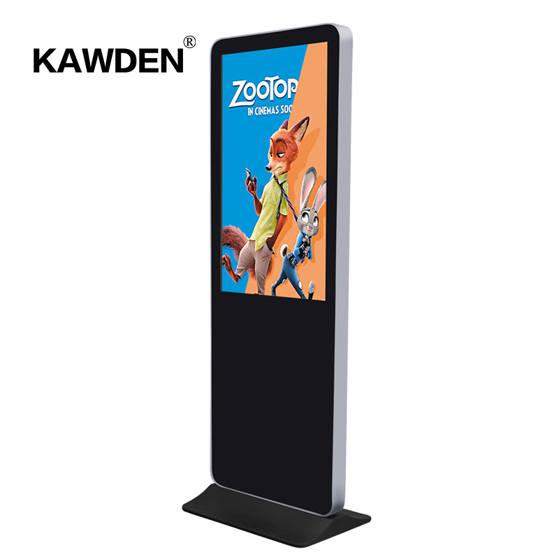 Wear-resistant design floor stand lcd touch screen advertising display