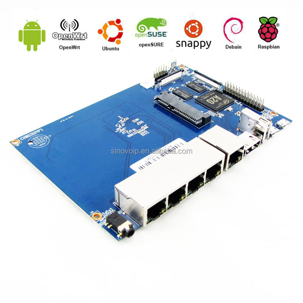 Cost-effective 4 ethernet ports SBC 1GB router and switcher single board computers