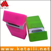 High quality smoking portable colorful silicone cigarette case & box