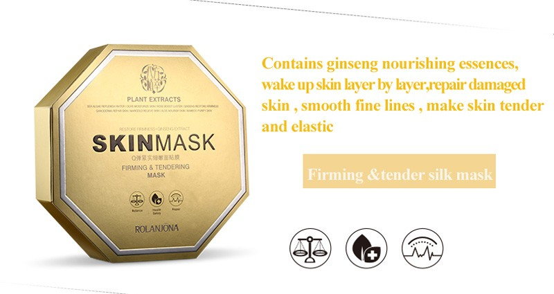 wholesale rolanjona natural plant extract firming tender anti-wrinkle face mask OEM facial mask