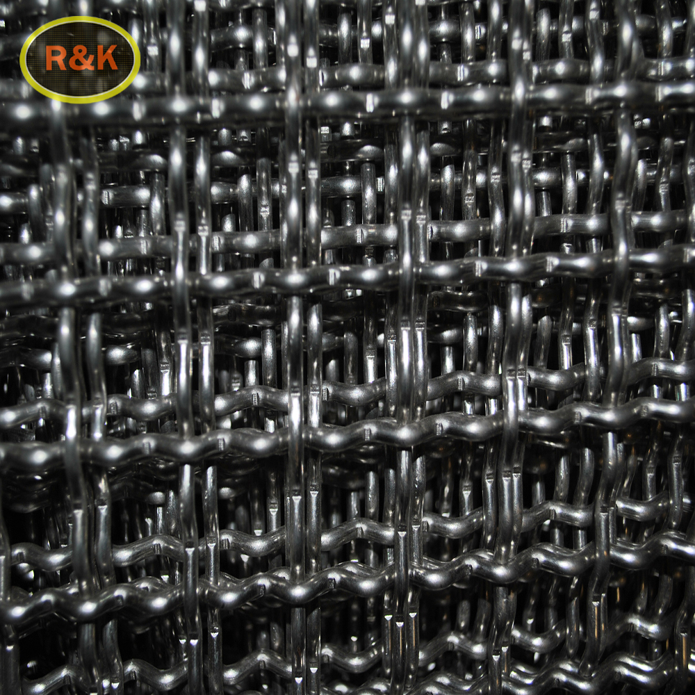 Stainless Steel BBQ Grill Crimped Wire Mesh/Stainless steel woven wire mesh