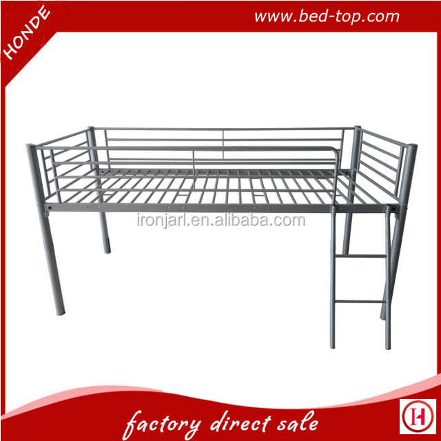 cabin bed metal frame single bed mid sleeper steel single bed with tent