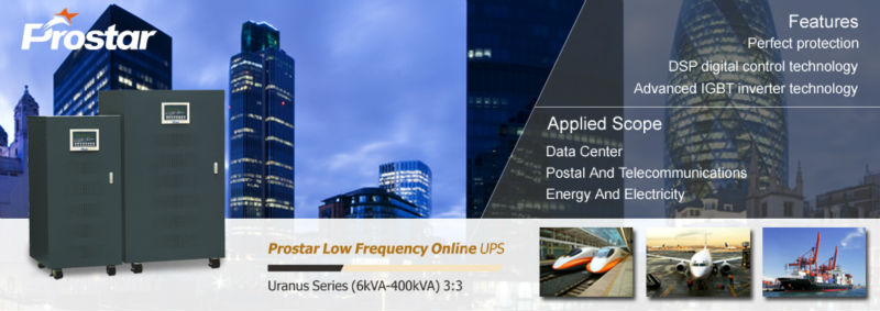 Prostar 3 phase low frequency 60kva ups for elevators