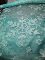 printed snowflake organza fabric for dress /dress organza fabric