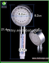 temperature control abs plastic healthy LED light hand shower