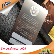 Metal Etched Business Card with Signature Strip