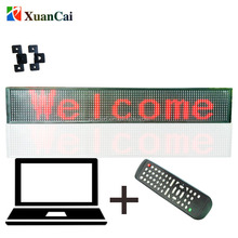 Red SMD indoor or semi-outdoor P10 Remote controller and RS232 communication mode LED moving message sign