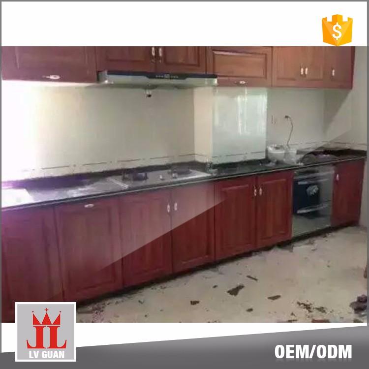 China guangdong decor home customize modular aluminium for Modular kitchen designs aluminium