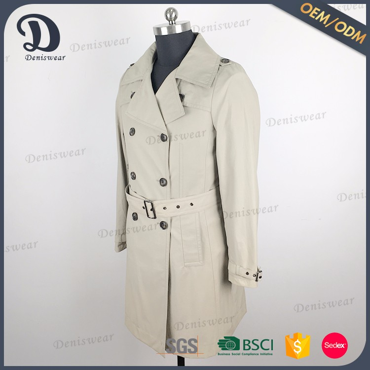 Wholesale price ladies coat women winter coat long double with button