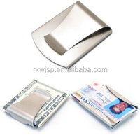 New Stainless Steel Double Sided Money Clip Credit Card Holder Wallet