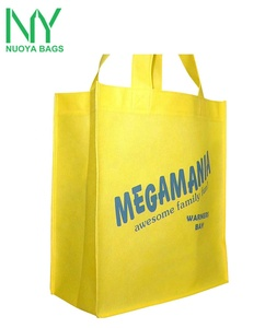 2018 top quality fluorescent Yellow recycled pp laminated non woven bag