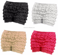 High Quality Women Fashion 8 Layers Lace Frilly Ruffle Knicker Sexy Underwear Shorts Hot Pants Safety Skirt