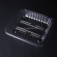 disposable PET plastic 4 compartment food tray for sale