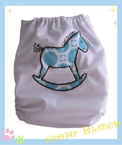 Disposable Pictures Cute Embroidery Pocket Cloth Happy Baby Diaper