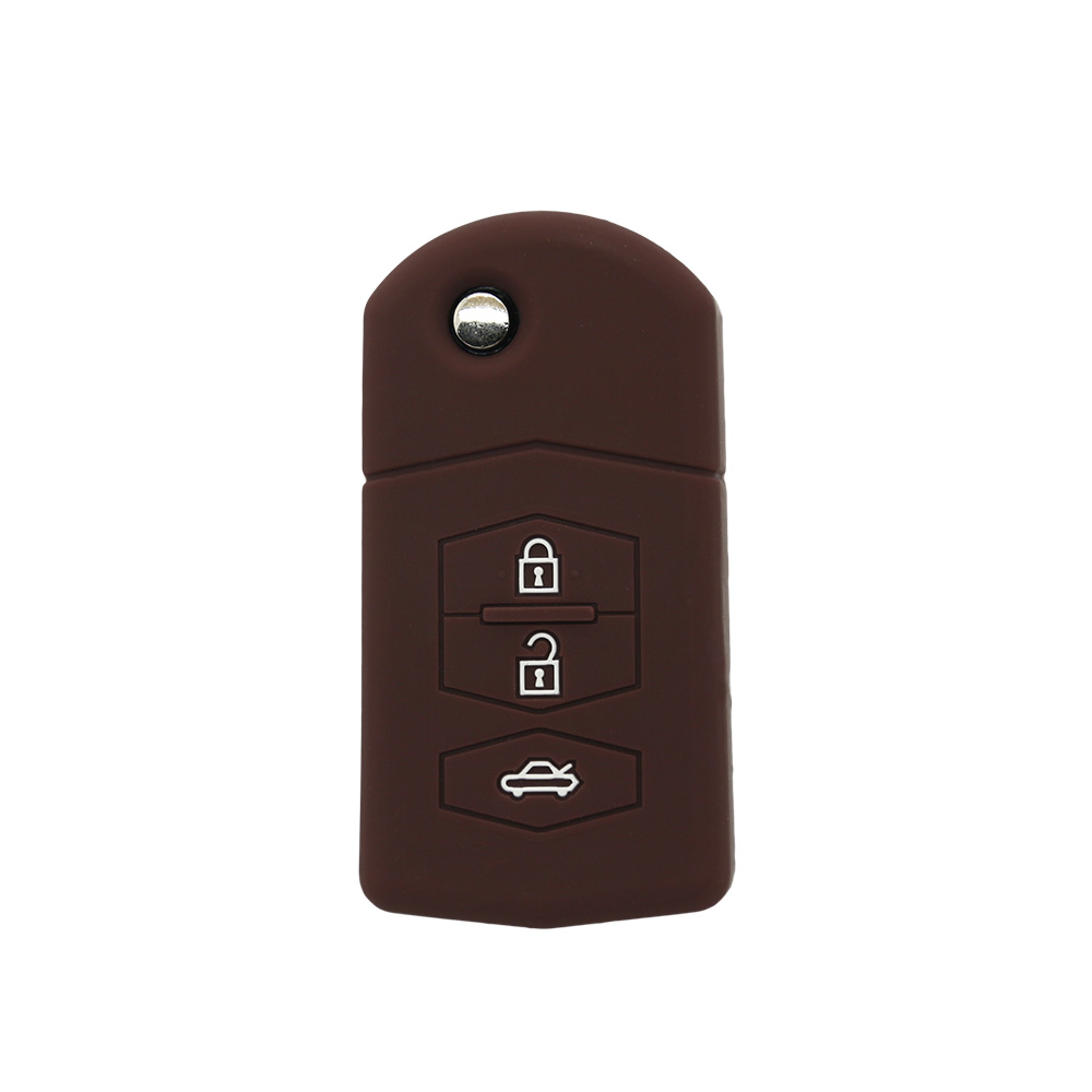 Flip Folding Key Shell for MAZDA Flip Remote car Key Case Replacement 3 Button