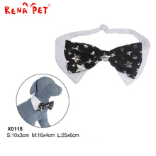 Wholesale christmas bling bling pet dog bow tie