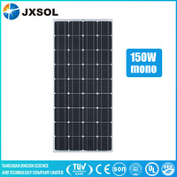 Cheap photovoltaic 36 cells 150w mono solar module portable pv panels