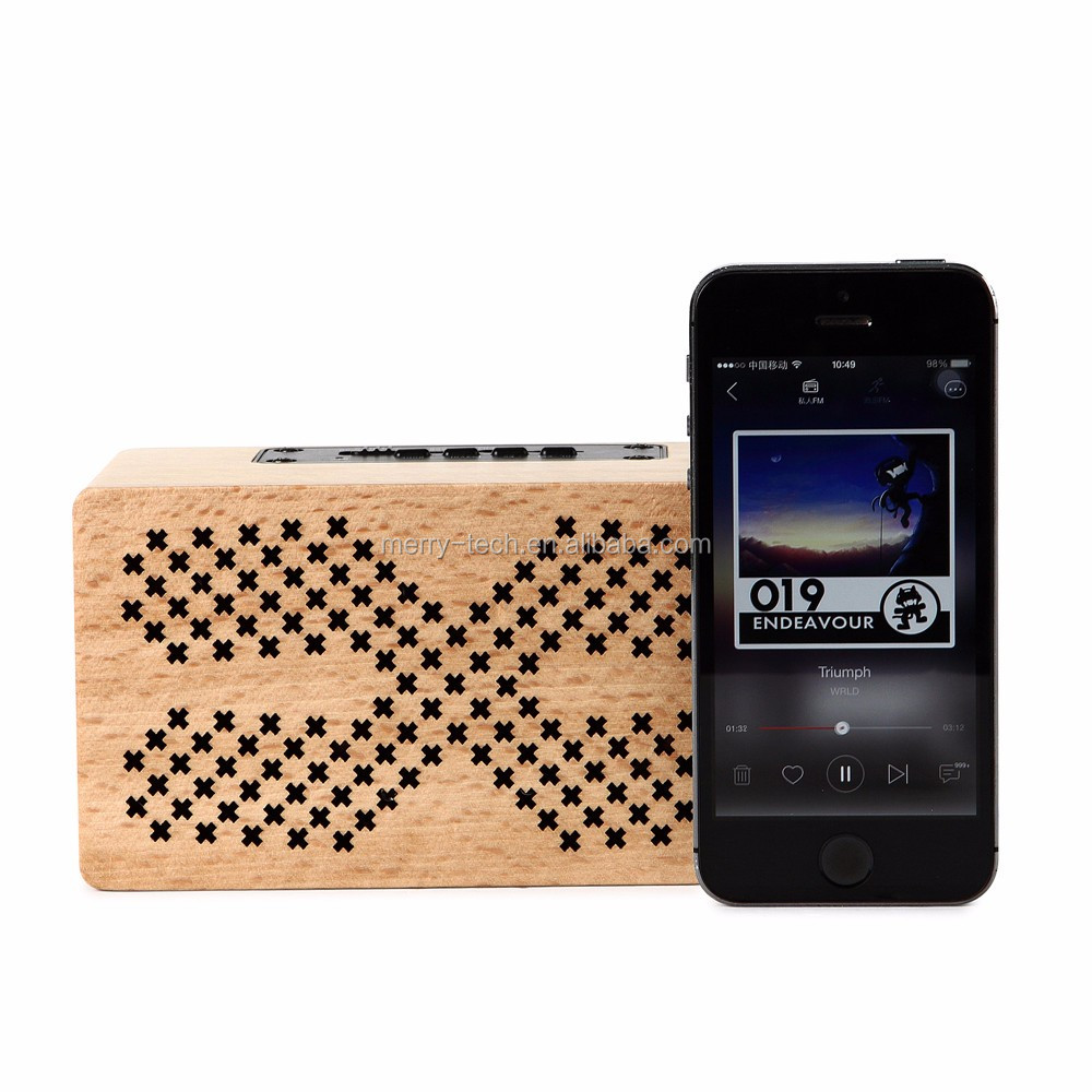 Portable Audio HiFi Home Theatre Sound System Stereo Wooden Music Subwoofer Speaker