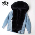 New Design winter used short overcoat women Casual Jeans Fur Parka Coat